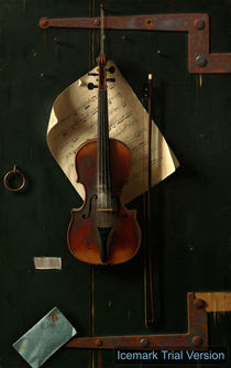 William Michael Harnett, The Old Violin by artokoloro
