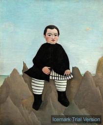 Henri Rousseau, French, Boy on the Rocks, 1895, painting by artokoloro