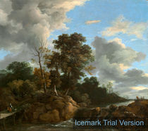 Jacob van Ruisdael, Dutch Landscape, 1670, oil on canvas by artokoloro