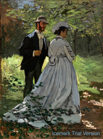 Claude Monet Bazille & Camille Study for Dejeuner sur l'Herbe by artokoloro
