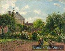 Camille Pissarro, The Artist's Garden at Eragny, 1898, oil on canvas von artokoloro
