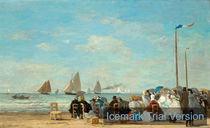 Eugène Boudin, Beach Scene at Trouville by artokoloro