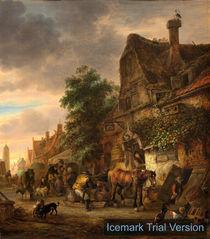 Isaack van Ostade, Workmen before an Inn by artokoloro