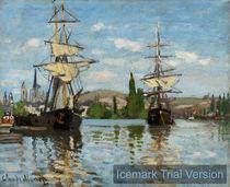 Claude Monet, Ships Riding on the Seine at Rouen von artokoloro