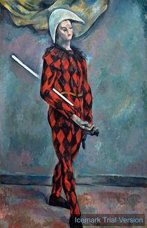 Paul Cézanne, Harlequin or Clown von artokoloro
