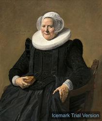 Frans Hals, Portrait of an Elderly Lady by artokoloro