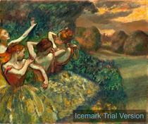 Edgar Degas, Four Dancers, c. 1899, oil on canvas by artokoloro