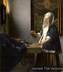 Johannes Vermeer, Woman Holding a Balance by artokoloro