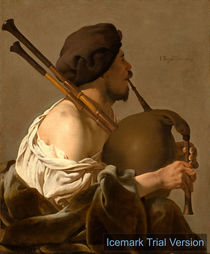 Hendrick ter Brugghen, Bagpipe Player by artokoloro