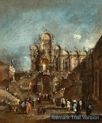 Francesco Guardi, Campo San Zanipolo, Venice by artokoloro