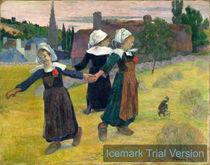 Paul Gauguin, Breton Girls Dancing by artokoloro