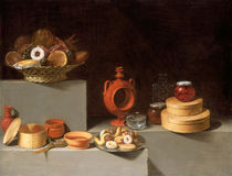 Still Life with Sweets and Pottery, Spanish by artokoloro