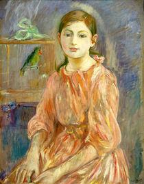 Berthe Morisot, The Artist's Daughter with a Parakeet by artokoloro