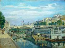 Jean-Baptiste-Armand Guillaumin, bridge River Seine in Paris by artokoloro
