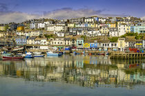 English coastal seaside town by Steve Mantell