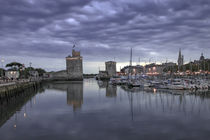 La Rochelle twin towers at night by Steve Mantell