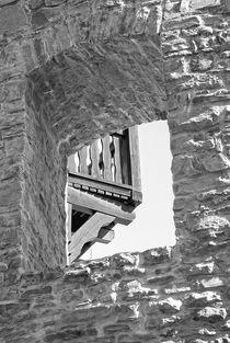 Ansicht mit Dursicht im Schl0ß Broich von Peter Hebgen