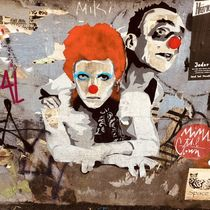 Ziggy Stardust meets Mimi The Clown von Simone Wilczek