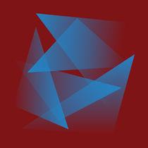 Floating blue fragments von feiermar