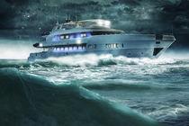 Schiff kämpft sich durch das Meer von Sven Bachström