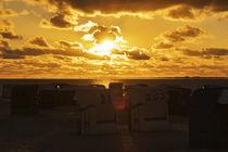 Sonnenuntergang in Norddeich von Heidi Bollich