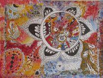 Mandala_Fantasiereise kraftvoll und magisch_DesignerKunstWerk_farbenprächtig von Heide Pfannenschwarz