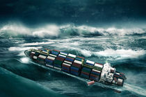 Container ship in the storm by Sven Bachström