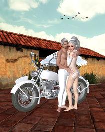 Motorrad Engel von Conny Dambach