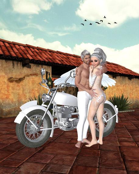 Motorrad-engel