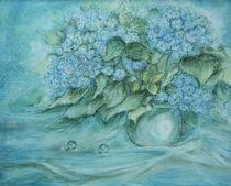 Blaue Hortensien  von Annegret Hofmann