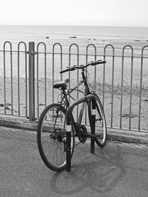 MORECAMBE. Bicycle On The Promenade. by Lachlan Main