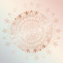 Rose Gold Mint Florales Mandala by Nina Baydur