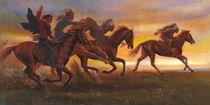 American Natives Riding On Horses by Svitozar Nenyuk