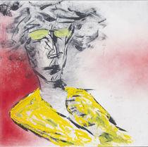 Woman in yello dress by Fine Art Nielsen