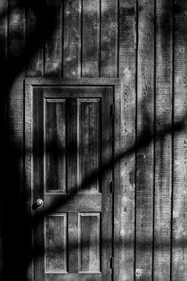 Wood Door And Shadows by Jim Corwin