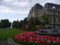 Justice Palace and statue of William Tell, Lausanne - Switzerland by ambasador