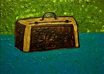 Suitcase on the table by giart1