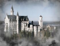 Schloss Neuschwanstein in den Wolken von kattobello