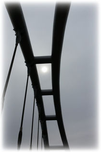 White sun over the bridge von feiermar