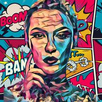 Comic Lady Boom Bang von Beate Braß