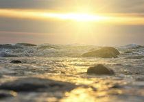 Sunset on the Seawater, Sonnenuntergang über dem Meerwasser von koroland