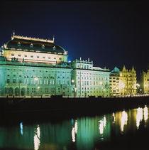 PRAG. Nacht in der goldenen Stadt - das Nationaltheater an der Moldau.  von li-lu