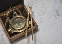 Navigation Kompass Zirkel Seekarte by koroland