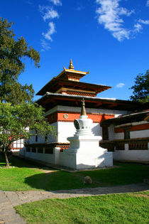 Kloster in Buthan, Himalaya von Peter Holle