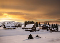 Sonnenuntergang in Seiffen von Stefan Weber