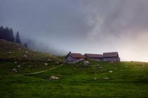 Drei Hütten unterhalb des Säntis in den Alpen  von sven-fuchs-fotografie