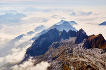 Ausblick vom Säntis in die umliegende Berglandschaft von sven-fuchs-fotografie