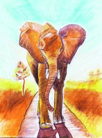Krafttier Elefant – Elephant Totem von Petra Pele Brockmann