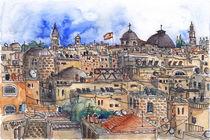Jerusalem, Rooftops von Hartmut Buse