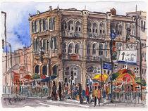 Jerusalem Platz am Damaskustor (Kikar Sah'ar Shechem) von Hartmut Buse